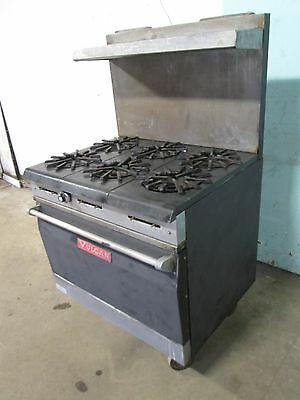 """""""VULCAN 36L 77R"""" COMMERCIAL H.D. (NSF) NATURAL GAS (6) BURNERS STOVE w/OVEN"""