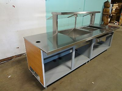 """"""" Duke """" Commercial Cafeteria Style Food Serving Line  W/sneeze Guard, Hot Well"""