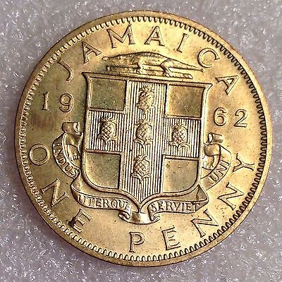 Jamaica 1 Penny 1962 High Grade! UNC  Nickel-Brass