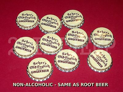 10 SEHER's OLD ENGLISH GINGER BEER NON-ALCOHOL SODA POP CORK UNUSED BOTTLE CAPS