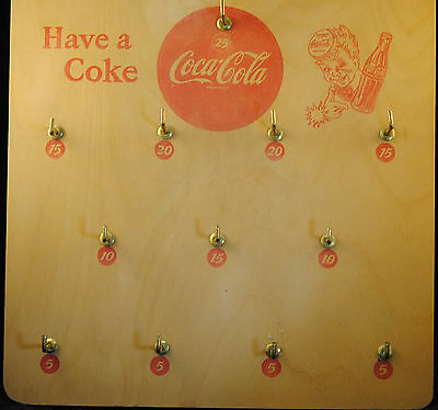 Vintage 1940s Coca Cola Ring Toss BOARD SPRITE BOY EX/NM