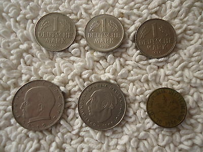 German Coins Assorted Lot  of (6) Circulated Coins
