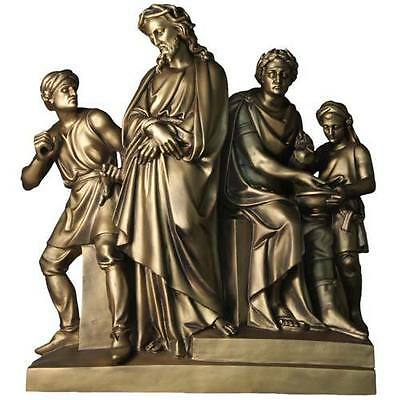 Beautiful set of bronze finished stations of the cross