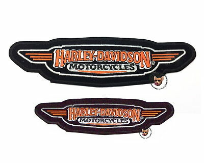 Set Of 2 Harley Davidson Motorcycle Patch Vest * Discontinued * 9 & 6 In Wide