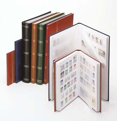 Lindner 1167-H Stockbook STANDARD with 64 white pages, 230 x 305 x 47 mm, brown