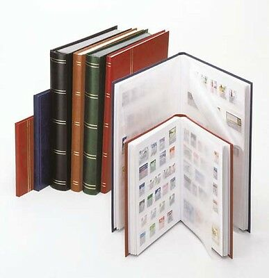Lindner 1175-B Stockbook LUXUS with 64 white pages, 230 x 305 x 48 mm, blue