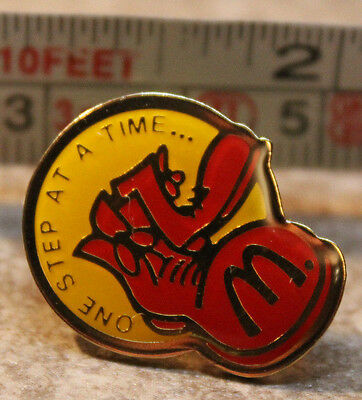 McDonalds One Step Closer Shoes Employee Collectible Pinback Pin Button