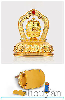 Best On Car Desktop! Buddhist Good Luck Bless Turning Wheel With Mani Mantra =