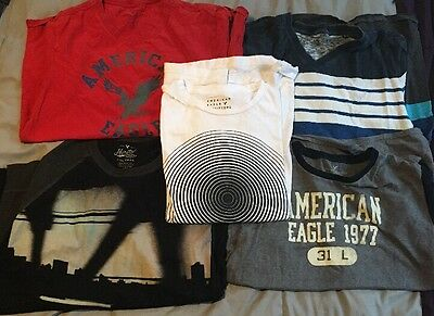 American Eagle Men's Shirts Lot Of 5 Size Large Used
