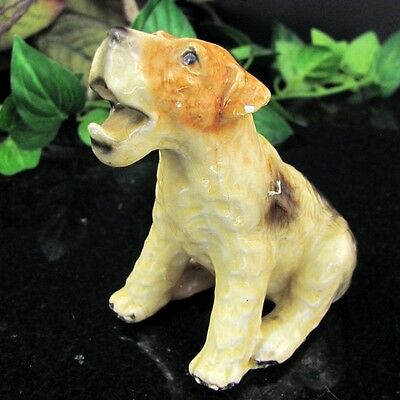 Vintage MORTEN'S STUDIO FOX Terrier Dog Royal Design Figure Pottery Statue