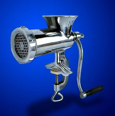 New MTN Gearsmith No10 Stainless Steel Manual Meat Grinder Sausage Stuffer
