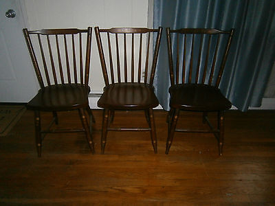 Vintage SET OF 3 HITCHCOCK STENCILED DINING CHAIRS  LOCAL PICK UP