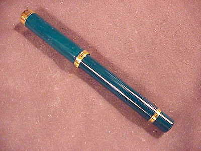Waterman Lady Charlotte Green  Laque & Gold Trim Ballpoint Pen New In Box