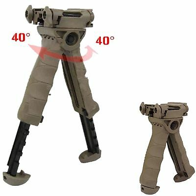 New Tan Swivel Foldable Bipod Tactical Foregrip 20mm Picatinny Rail For Rifle