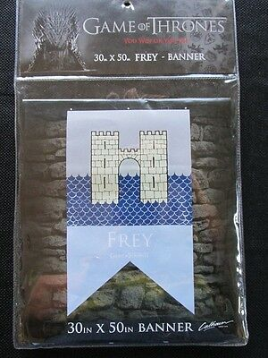 """GAME OF THRONES HOUSE BANNER FREY LICENSED FLAG 30"""" x 50"""" #sfeb17-16"""