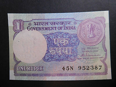 India, 1 Rupee, Old Banknote, UNC