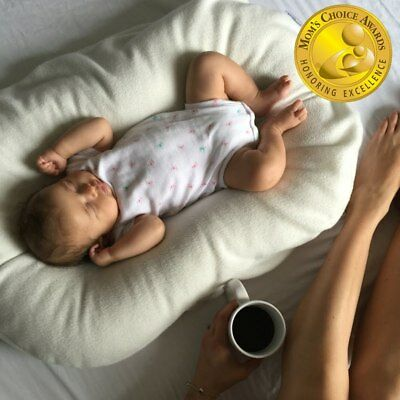 Snuggle Me Organic | The Original Baby Lounger and Bed-Sharing Cushion w/ Cover