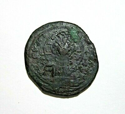 Byzantine. Ae Follis Class B. Attributed To Romanus Iii. 1028-1034 Ad.