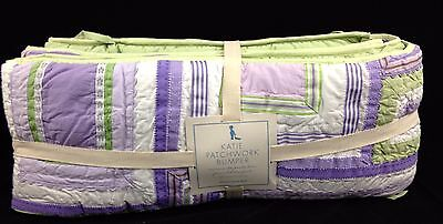Pottery Barn Kids Katie Patchwork Crib Bumper New Purple Lavender Nursery Girls