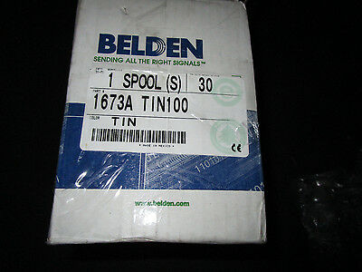 Belden 1673A 50 Ohm TIN Coax Cable Silver Plated 100ft.