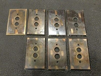 7 Hart & Hegeman Japanned Copper Flash Brass Push Button Cover Plates Single