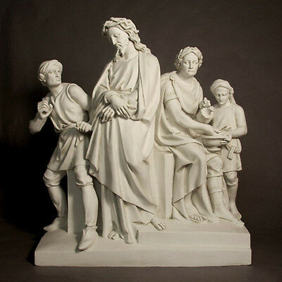 Beautiful set of stone finished stations of the cross