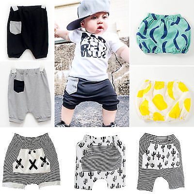 Kids Baby Boys Girls Summer Pants Shorts Toddler Elastic Casual Trousers Bottoms