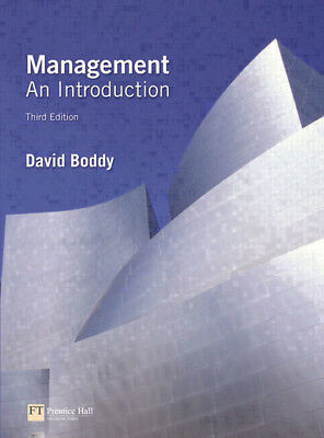 Management: an introduction by David Boddy (Paperback)