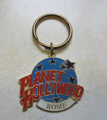 PLANET HOLLYWOOD Rome metal keychain key ring Italy