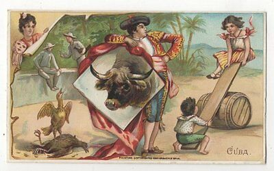 1893 Victorian Trade Card ARBUCKLE BROS COFFEE Cuba, Carnivals, Fiestas
