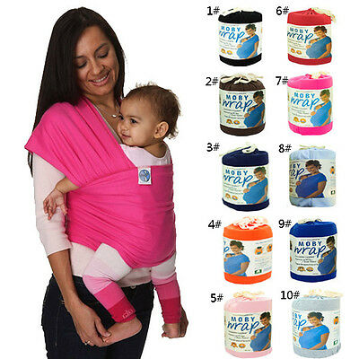 New 10 Colors Elastic Baby Carrier Moby Wrap Infant Sling Cotton Sleeping Bag