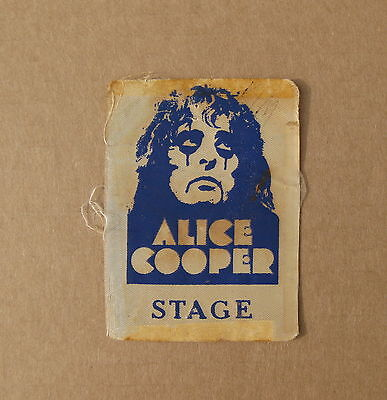 ALICE COOPER School's Out 1972 US Concert BACKSTAGE Pass (USED) Glam VG Rare !!!