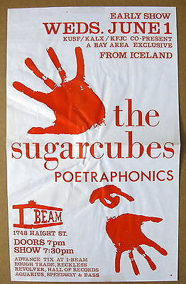 The SUGARCUBES I-Beam SAN FRANCISCO 1988 CONCERT POSTER Bjork VG