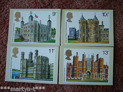 PHQ Stamp card set No 28 British Architecture 1978. 4 card set.  Mint Condition.