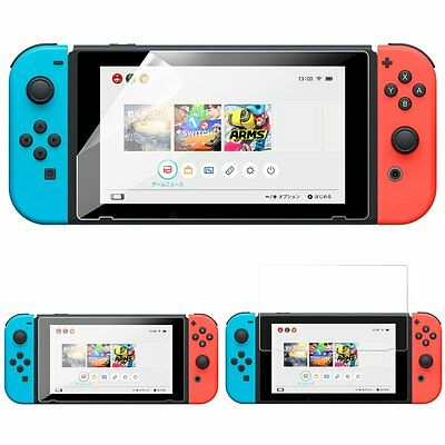 Clear Glass Screen Protective Film Guard Full Cover for Nintendo Switch Console