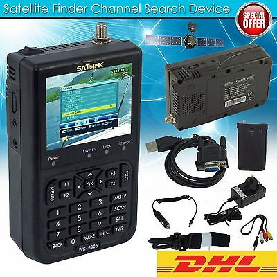 "SATlink WS-6906 3.5"" DVB-S FTA Data Digital Signal Satellite Chercheur Testeur"