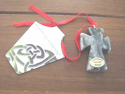 Connemara Marble by Gerard Celtic Cross Christmas Hanging Decoration