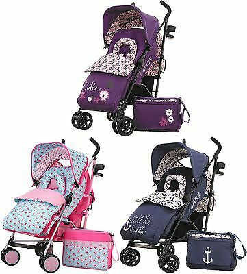 Obaby ZEAL STROLLER BUNDLE Buggy With Raincover + Changing Bag Baby/Kids BN