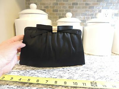 Vintage Black Clutch Purse Comes With Coin Purse By After Five 1960's