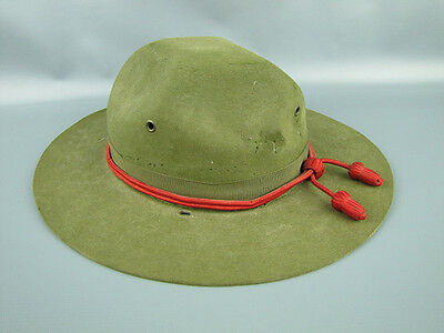 Vintage GW Alexander Boy Scout Campaign Hat w/ Red Cord NRA Member 6-7/8