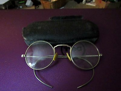 Antique Eyeglasses Nomar  Round 1-10 12K Gold
