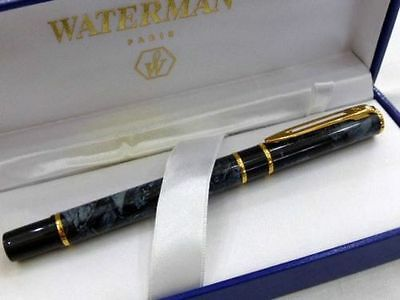 Original  Waterman Laureat Blue Marble   Rollerball Pen   In  Box  @@@