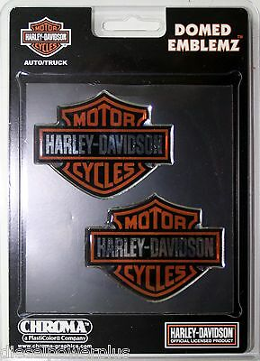 harley davidson bike 2 pack raised 3d emblem fuel tank gas gear sticker HD decal