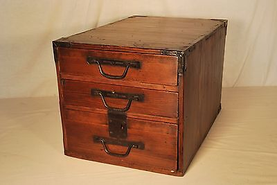 ANTIQUE JAPANESE SCROLL / TOOL / STORAGE BOX / Tansu / Edo Era (1603 - 1867)