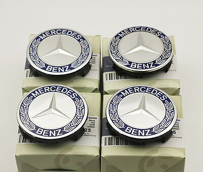 4Pcs Mercedes Benz Car Case Caps Cover Wheel Emblem Hub Center 75mm