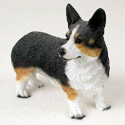 CORGI dog HANDPAINTED FIGURINE Welsh Cardigan Puppy NEW resin Statue COLLECTIBLE