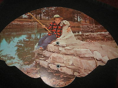 Advertising Fan-Boy Fishing with his Dog-Yoder &Long Funeral Home St.Mary's Ohio