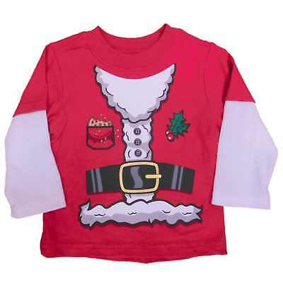 Holiday Time Infant & Toddler Boys Santa Claus Christmas Long Sleeve Shirt