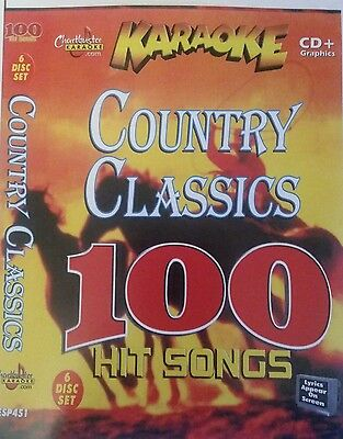 Chartbuster Karaoke Cdg   Country Classics   6 Disc Set 100  Country Songs