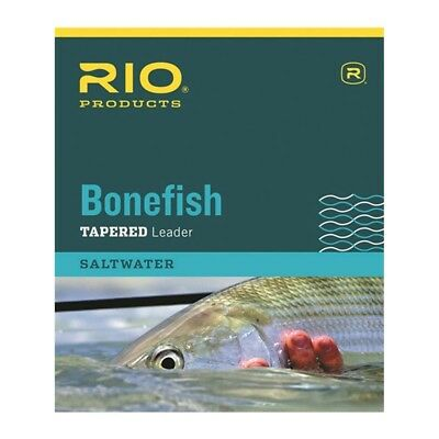 Rio Fly Fishing Products Bonefish Knotless Saltwater Tapered Leader - 3 Pack